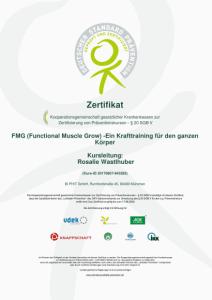 FMG Zertifikat Rosalie Wastlhuber