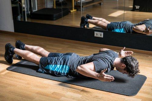 Übungen zur Kräftigung Brustwirbelsäule (BWS) Position 1