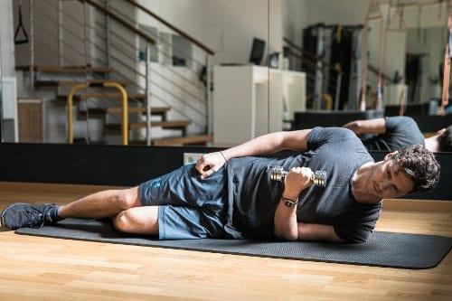 Schulter Übungen: Innenrotation Training Position 2