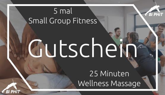 Gutschein 5er Karte Small Group Fitness plus Massage
